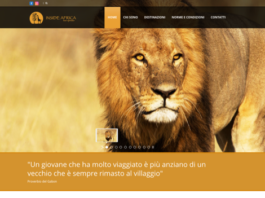 Welcome page del sito ww.inside-africa.info