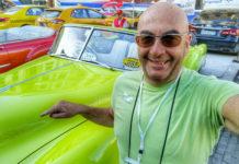 Massimo Terracina, a Cuba per una manifestazione d'auto d'epoca